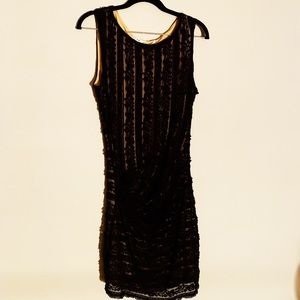 Max Studio Black and Gold Lace Dress - Hot! - Sz M